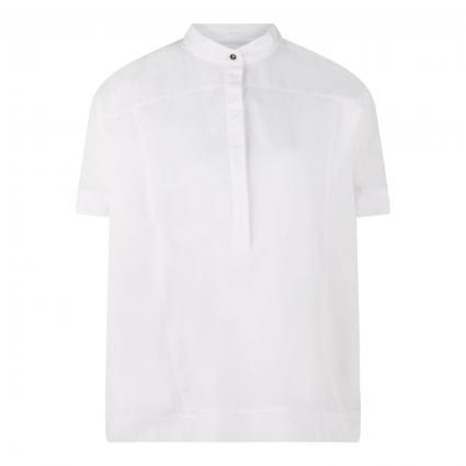 Bluse 'Banu' mit Kurzarm weiss (100 White) | 42