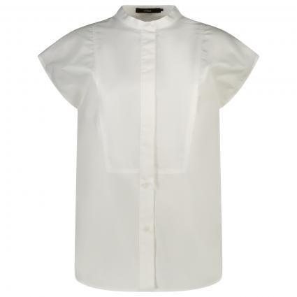 Kurzärmlige Bluse mit Stehkragen  weiss (100 White) | 44