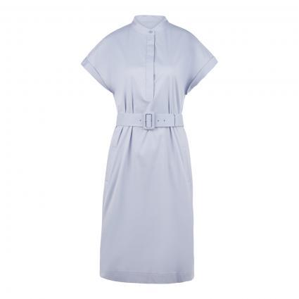 Kurzes Kleid in Hemdblusen-Optik blau (447 TurquioseAqua) | 38