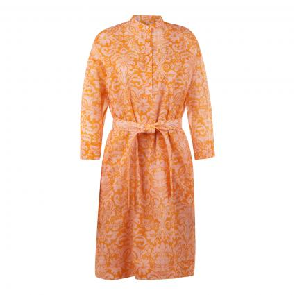 Midikleid mit All-Over Muster orange (825 Bright Orange) | 38