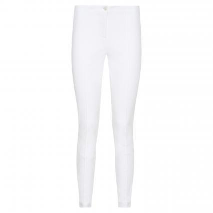 Slim-Fit Hose 'Ros' mit Biesendetails weiss (001 pure white)   38   29