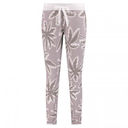 Homewear Hose mit Palmenprint oliv (499 moss)   S