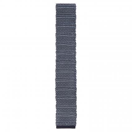 Strickkrawatte aus reiner Seide blau (1) | 0