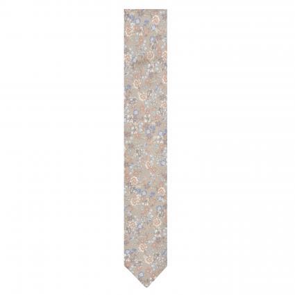 Krawatte 'Buster' aus Seide mit floralem Muster beige (3) | 0