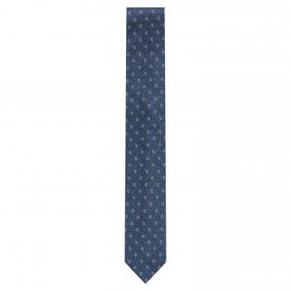 Krawatte aus reiner Seide mit floralem Muster blau (4) | 0