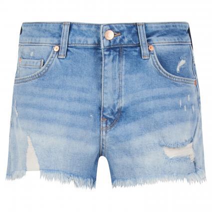 Shorts 'Rosie' mit Fransenabschluss blau (28623 mid retro 80's)   26