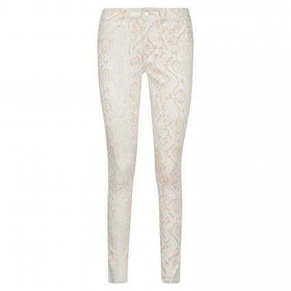Super Skinny-Fit Jeans 'Adriana'  ecru (30118 nude snake str) | 27 | 30
