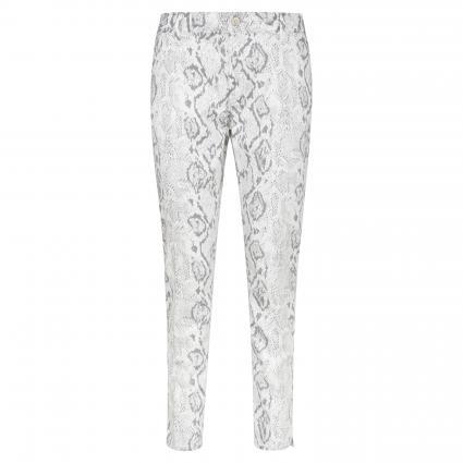Skinny-Fit Jeans 'Suzie' grau (30153 grey snake str) | 32