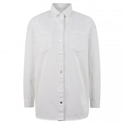 Oversize Jeansbluse 'Briana' ecru (31795 off white deni)   M