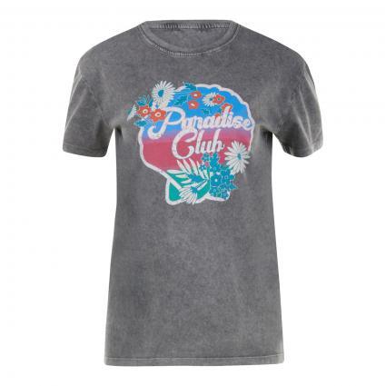T-Shirt mit Frontalem Print  anthrazit (900 phantom)   XS