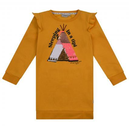 Kleid mit Pailletten Besatz  gelb (2989 YELLOW) | 104