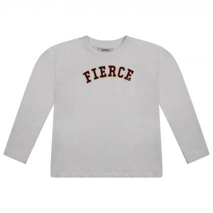 Langarm Shirt mit frontalem Print  ecru (53 WHITE) | 152