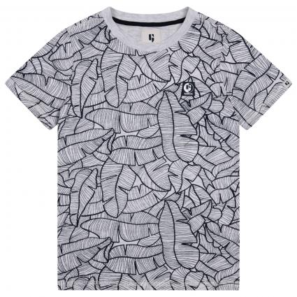 T-Shirt mit All-Over Muster weiss (625 WHITE) | 176