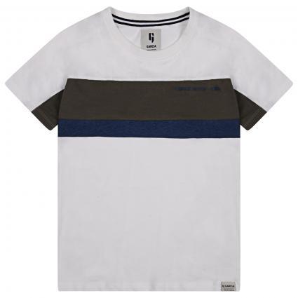 T-Shirt mit Color-Blocking ecru (53 WHITE) | 164