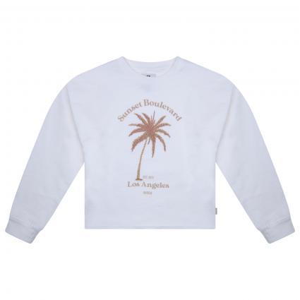 Sweatshirt mit frontaler Stickerei ecru (53 WHITE) | 176