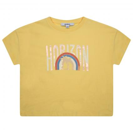 T-Shirt mit Print gelb (6016 YELLOW) | 164