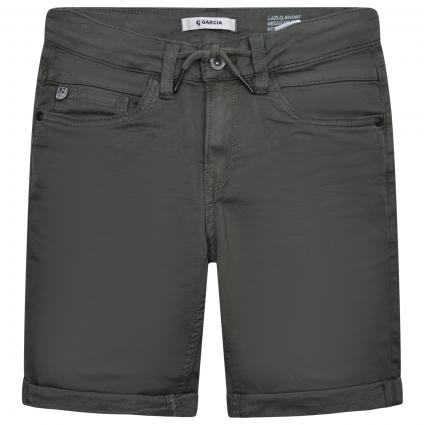 Bermuda-Jeans mit Zugband oliv (2758 GREEN) | 134