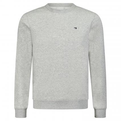 Sweatshirt mit Rundhalsausschnitt grau (970 grey melange) | XXL