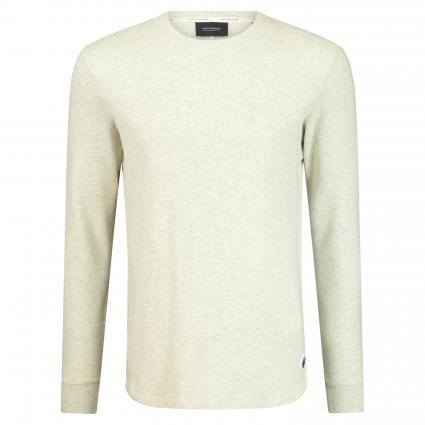 Pullover mit Strukturmuster ecru (0171 Ecru Melange) | L