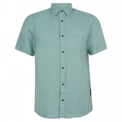 Regular-Fit Kurzarmhemd aus Leinen grün (0238 Emerald) | S