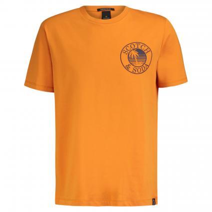 T-Shirt mit Logo Druck orange (0446 Ginger) | L