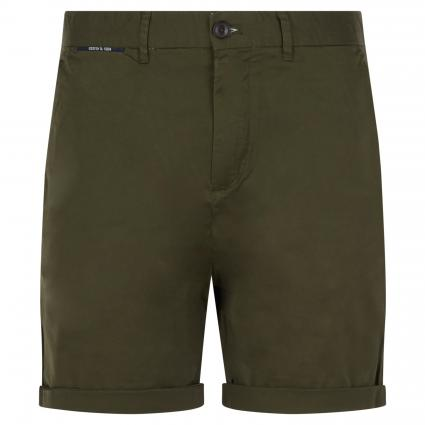 Slim-Fit Short in Chino-Optik oliv (0360 Military) | 29