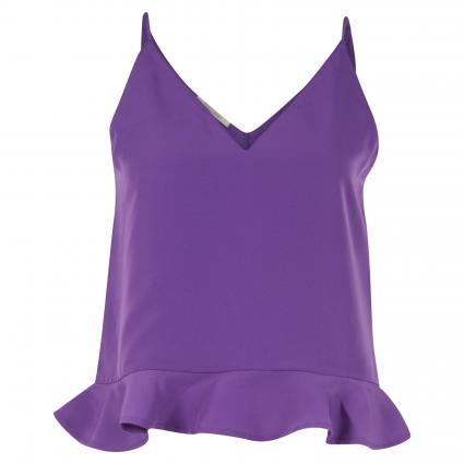 Top mit Rundhalsausschnitt aus Jersey Stoff lila (0766 Purple) | XS