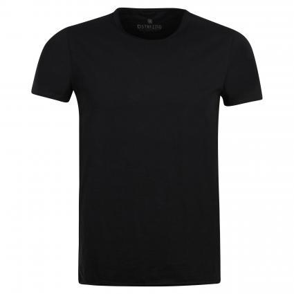 T-Shirt mit Rundhalsausschnitt schwarz (999 Black) | M