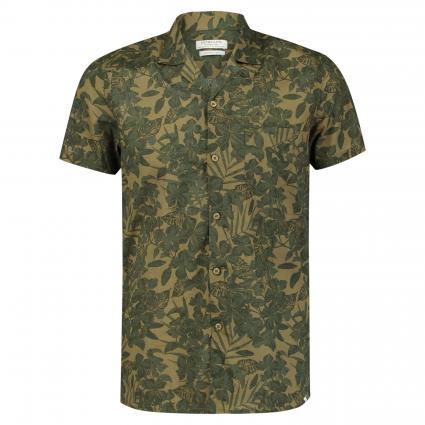 Kurzarmhemd mit Bowling-Kragen oliv (511 Army Green) | XL
