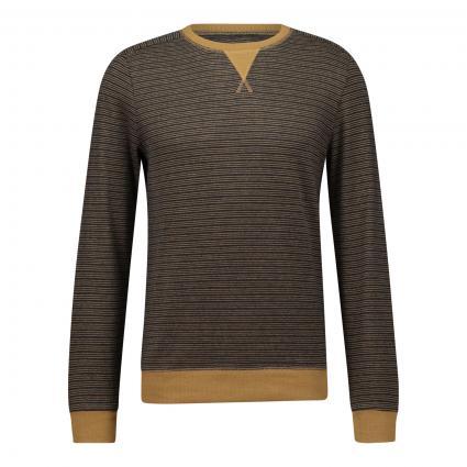 Pullover mit Streifenmuster gold (331 Mustard) | S