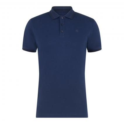 Poloshirt mit Label-Stickerei marine (669 Navy) | S