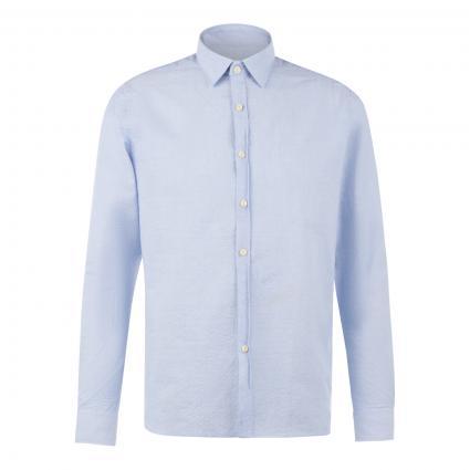 Reg.-Fit Hemd aus luftigem Seersucker Gewebe blau (646 Lt. Blue)   M