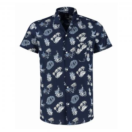 Bowlinghemd mit All-Over Print marine (669 Navy) | L