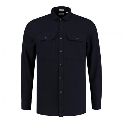 Regular-Fit Hemd mit Brusttaschen marine (649 Dk. Navy) | S