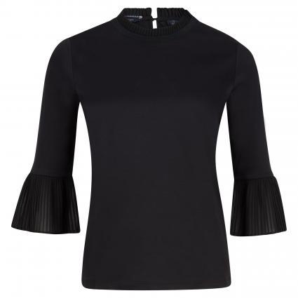 T-Shirt mit Volant schwarz (0008 Black)   L