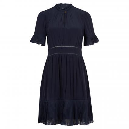 Kleid mit Plissee-Details marine (0002 Night)   M
