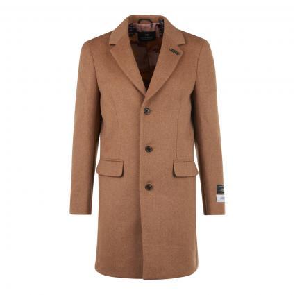 Klassischer Mantel aus softer Wollmischung beige (0137 Sand) | XL