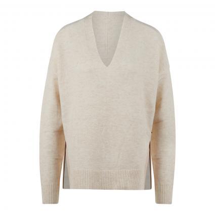 Pullover mit V-Ausschnitt ecru (3899 Ivory Melange) | S