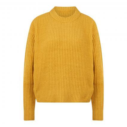Pullover mit Rippstrickmuster gold (2832 Golden Sun) | L