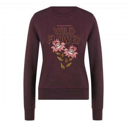 Sweatshirt mit Stitching bordeaux (1185 Aubergine) | L