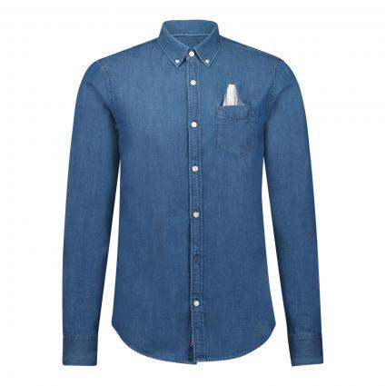 Reg-Fit Jeanshemd blau (0089 Indigo)   L