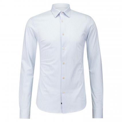 Slim-Fit Hemd mit Streifenmuster blau (0219 Combo C jersey) | XL