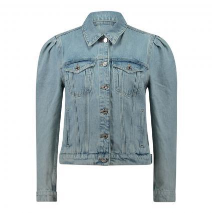 Jeansjacke mit Puffärmeln blau (1234 Powder Blue) | XS