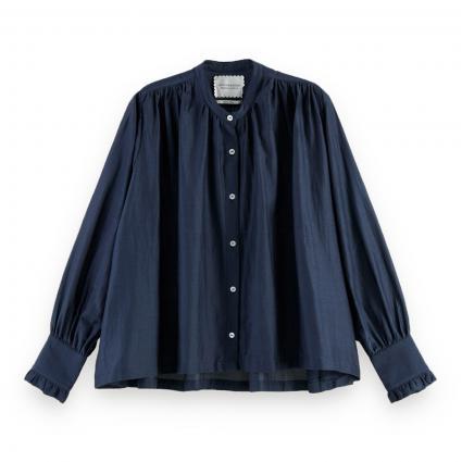 Oversized Bluse mit Rüschen-Details marine (0002 Night)   XL