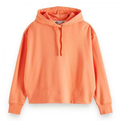 Hoddie mit Wording Druck  orange (1093 Salmon) | L