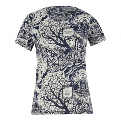 T-Shirt mit All-Over Muster divers (0217 Combo A) | L