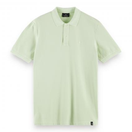 Poloshirt mit Bruststickerei grün (0514 Seafoam) | L