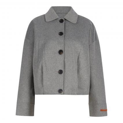 Kurzjacke aus softer Wollmischung grau (0606 Grey Melange) | XS