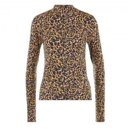 Langarmshirt mit floralem Print und Stehkragen  divers (0219 Combo C) | S