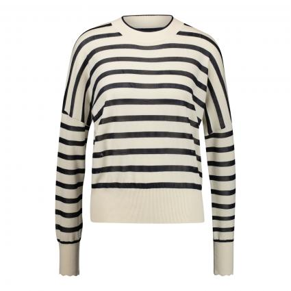 Feinstrick-Pullover mit Streifenmuster  divers (0598 Combo S)   L